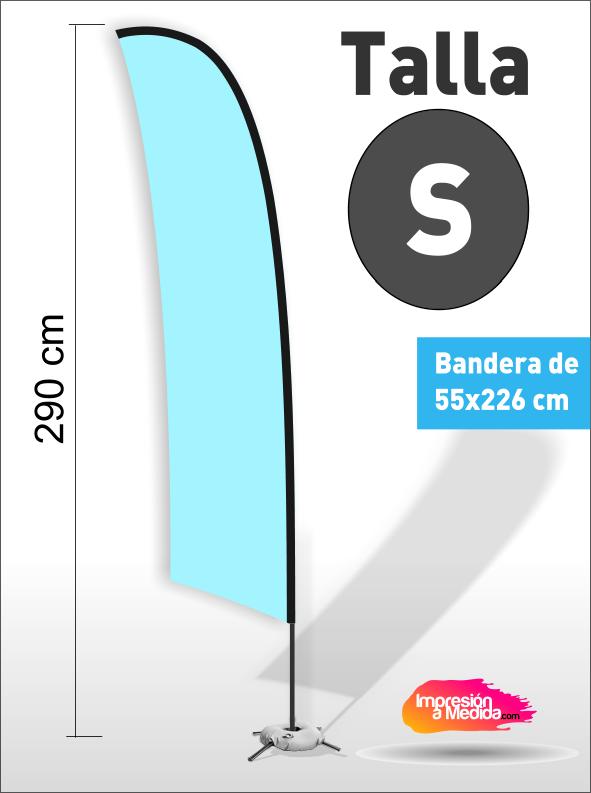 Estructura + Bandera SURF Talla S