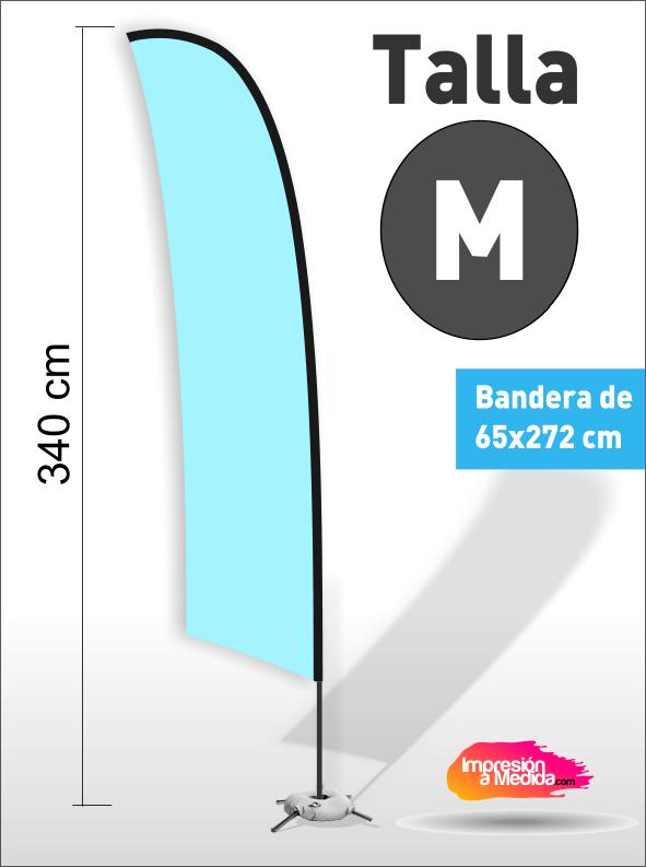 Estructura + Bandera SURF Talla M