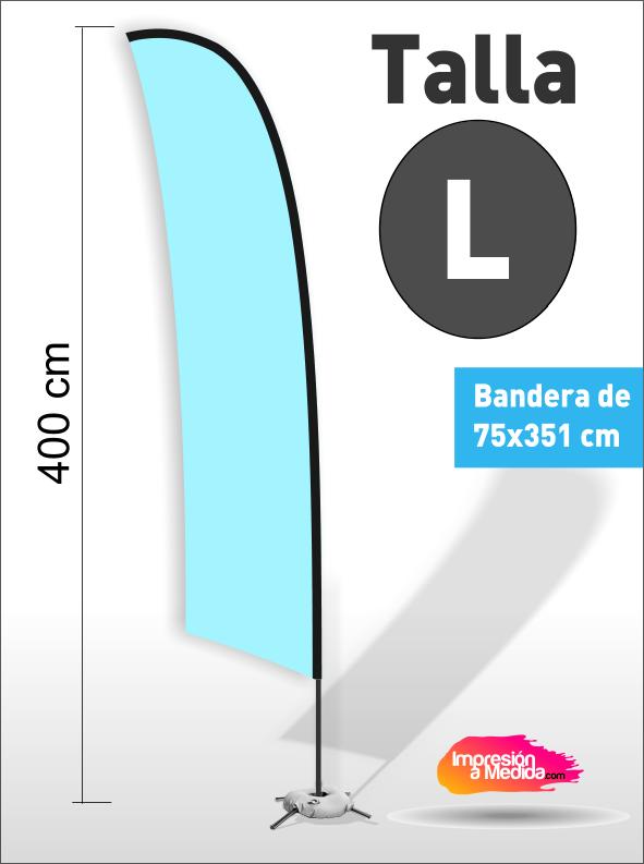 Estructura + Bandera SURF Talla L
