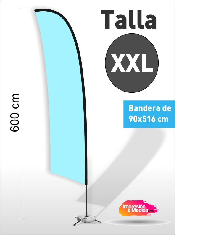 Estructura + Bandera SURF Talla XXL